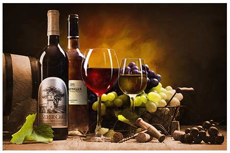 Wine Paintings and Art